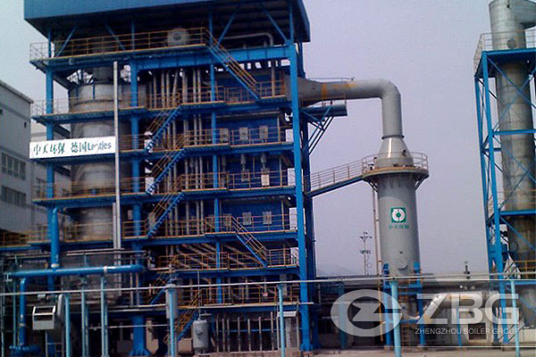 Carbon rotary kiln waste heat boiler in China