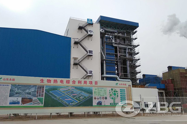 2 Sets of 75 ton CFB Biomass Power Plant Boiler