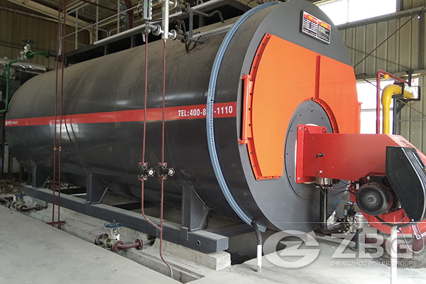 8 Tons WNS Gas Steam Boiler Project in China