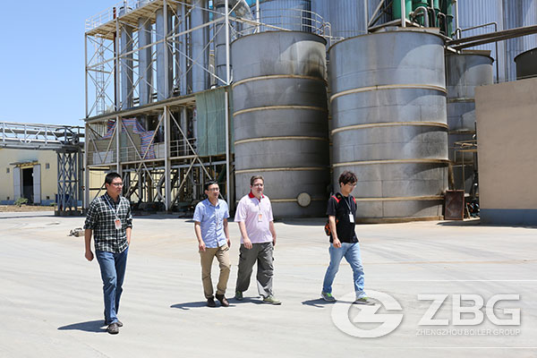 Serbia Client Visited ZG's 45T Biomass Boiler Project Site