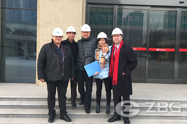 Russian Clients Visited ZG Group For Further Discussing About 24MW Power Plant Boiler