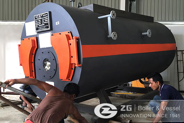 1Ton 2Ton Gas Steam Boilers Put Into Operation In Bangladesh