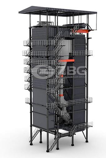 Qxx High Speed External Cfb Boiler 29mw 168mw Hot Water