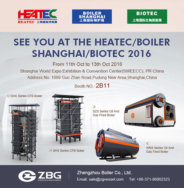 SEE YOU AT THE HEATEC/BOILER SHANGHAI/BIOTEC 2016
