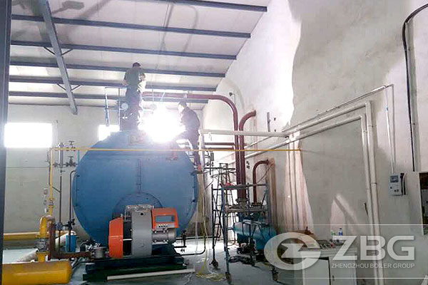 10 Ton Gas Steam Boiler in Tannery