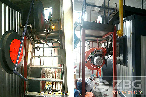 3 Ton Gas Water Tube Boiler For Building Material Company