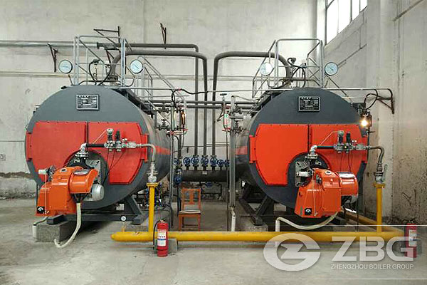 Two Sets of Gas Steam Boiler in Guoyang County Hospital
