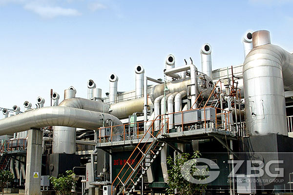Coke oven gas recovery boiler for power generation
