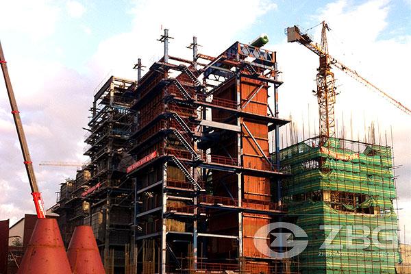 116 MW CFB hot water boiler China