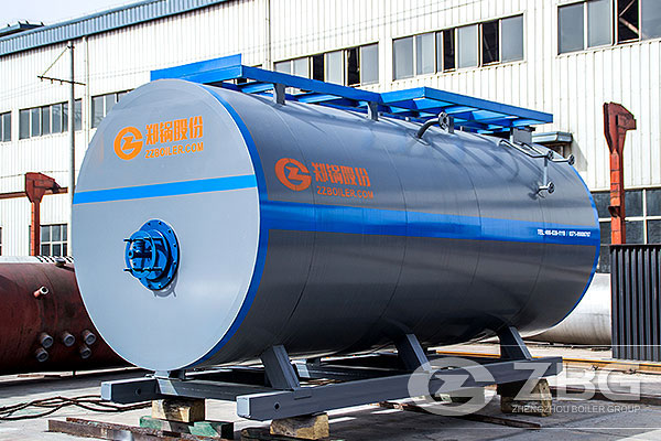 5.6 MW oil fired boiler exported to Russia