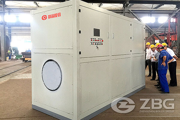 Two Sets 8t Vacuum Hot Water Boilers in Handan